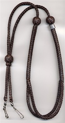 Adjustable braided lanyard